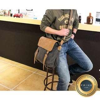 Tas Pria - Canvio Leather Sling Bag