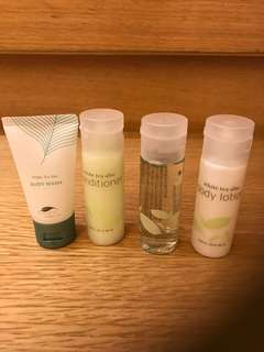 White Tea Aloe Travel size Toiletries