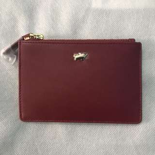 Braun Buffel Card Holder with Zipper
