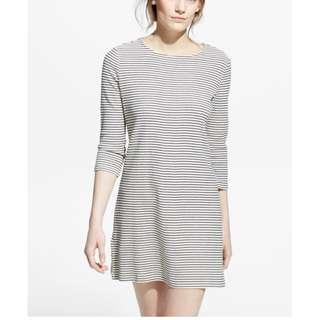 Mango Striped Cotton Shift Dress