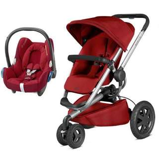 Quinny Buzz 3 Stroller w Maxi Cosi Travel carry cot