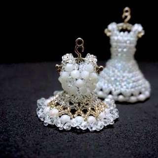 Beads Art - Mini Wedding Dress