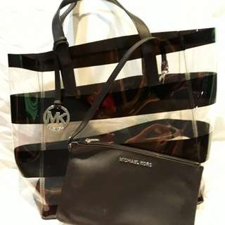 Michael Kors Transparent stripes bag
