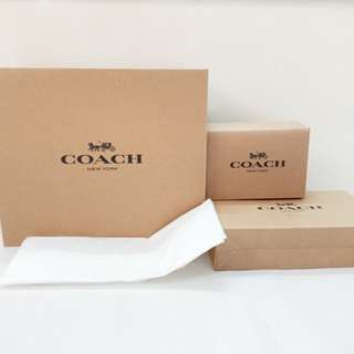 Coach Box Original Authentic bag wallet