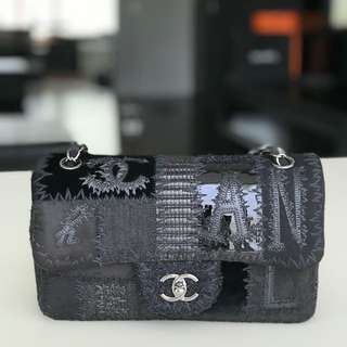 Chanel patch work black
