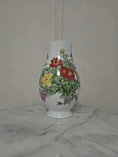 Older porcelain vase with enamel painting height 33cm perfect condition