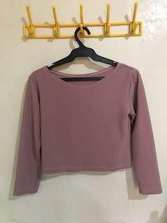 Mauve Crop top shirt