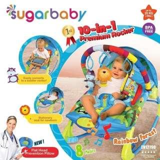 Sugar Baby Bouncer 10in1 - Rainbow Forest