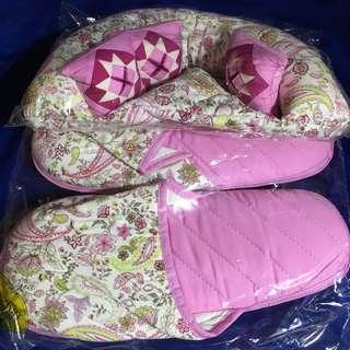 [全新New] 泰國NaRaYa(蝴蝶袋牌子)梳化型紙巾套連家居拖鞋一對