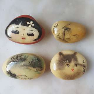 Vintage Painted Stones from China