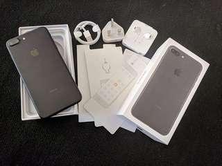 """iPhone  7+   256 GB  '  Mate BLack """" Mulus Lengkap Ex. internasional"""
