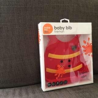 Baby bib - fireman