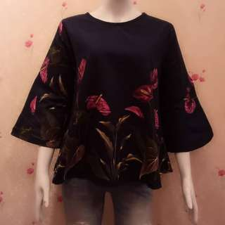 Blouse bahan linen fit XL