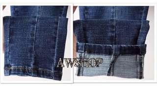 🎀 橡筋腰鉛筆牛仔褲 (平腳款)