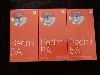 """Xiaomi  Redmi  5A  """"  New / Baru segel """"  Garansi"""