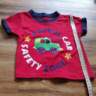 Bless patrol car red shirt (6-9 months old)