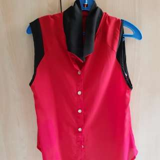 Red Blouse (Smart Casual Office)