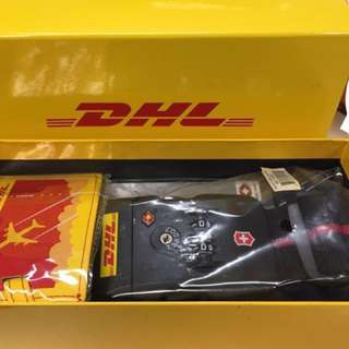 DHL 行李帶鎖 連行李牌 全新