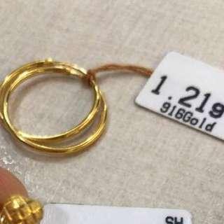 Earring Gold 916
