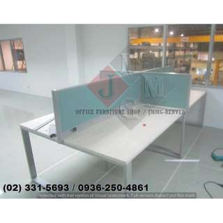 Linear Workstation_Office Partition * Furniture ))