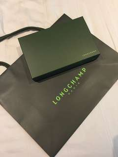 Longchamp wallet box paper bag