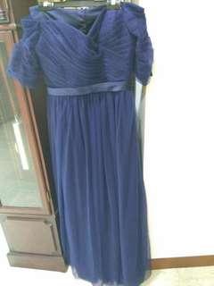 Navy Blue Dinner Gown