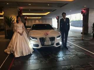 Audi white Wedding Car 2018 2019