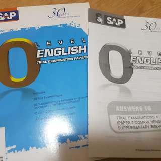 O level english trial exam papers by SAP bought $7.50