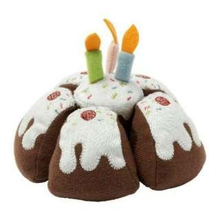 Boneka Kue Ulang Tahun Dengan Lilin Mainan (Set 6 pcs)