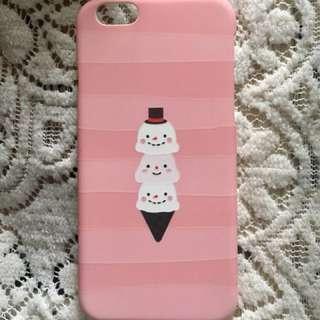 iPhone6/6s 粉色間條雪糕圖案硬殻