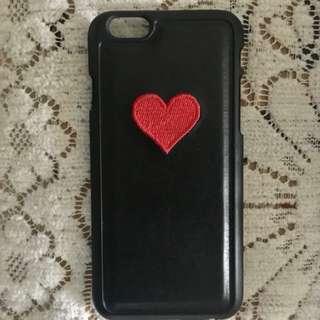iPhone6/6s 心心刺繡圖案硬殻