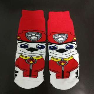 [BN] Paw patrol marshall sock, 2-4years old