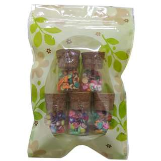 Plastic clear zip lock bags with Flower pattern printed Size 9 x 13 cm in 10 pieces pack now available