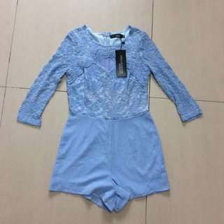 Korea Baby Blue Lacey Romper