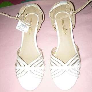 Montego Bay Club White Wedge Sandals