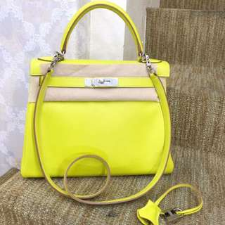 Hermes Kelly 28 c9 糖果黃 97新