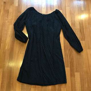 Michael kors eyelet 3/4 sleeve dress - Fits L XL XXL Uk14 Uk16 UK18 US12 US14 US16 Plus Size