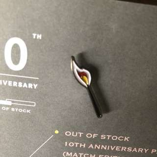 OUT OF STOCK 10th Anniversary Pin (Match Edition) HK