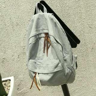 Grey School Bag Backpack Bagpack