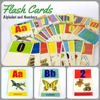 Flash Cards - Alphabets and Numbers