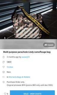 PARACHUTE OFF WHITE bag