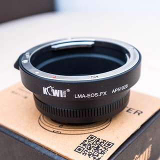 Kiwi Lens Adapter EF canon lens to X mount Fuji