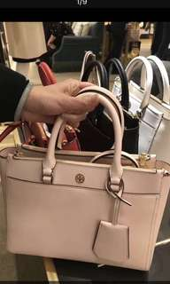 Tory Burch Robinson double zip small tote