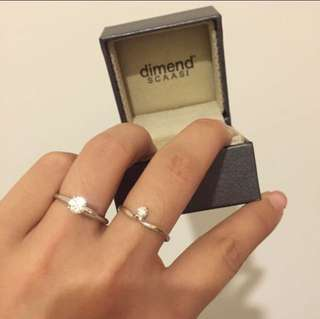 0.41 Scaasi Diamond Ring