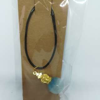 Sky color ball necklace