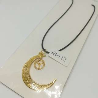Moon collection with small gear necklace