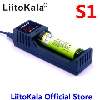 LiitoKala lii-S1 18650 Battery Charger For 26650 20700 18350 16340 14500  LiFePO4 3.7V Rechareable Battery Smart Charger