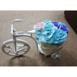 TCWK Roses with Bicycle Romantic Bouquet Flower (Ready Stock)