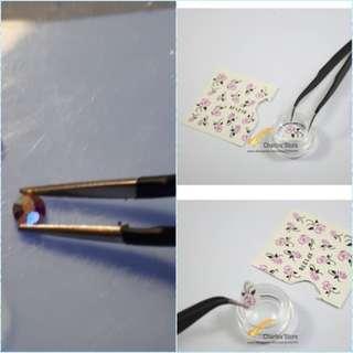 Curved Tweezers Nail Art Rhinestones Picking DIY Gem/Decorations/Eyelash Makeup Tools NJ247