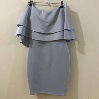 Baby Blue Off Shoulder Dress